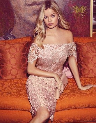 90fc150757 Lipsy Vip All Over Lace Bardot Dress