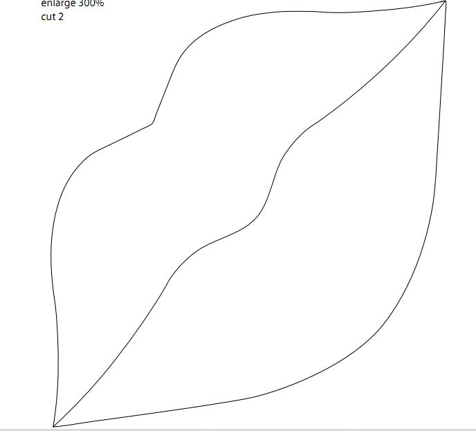 Cojin forma de labios 2 | agus | Pinterest | Moldes, Cojines y ...