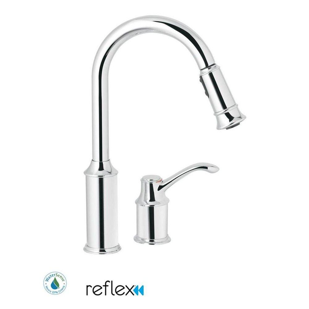 Moen 7590 Aberdeen Single Handle Pulldown Spray Kitchen Faucet