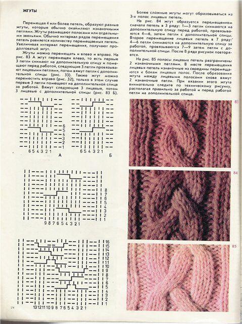 вязание спицами узор косы большой схема