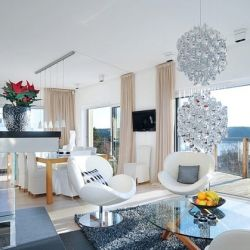 Modern Home with Sophisticated Details and Views of the Stockholm Inlet