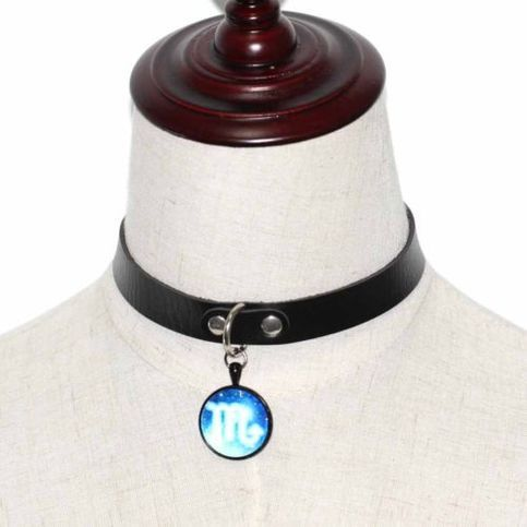 Adjustable 12 Constellation Blue Pendant Leather Rope Chain Necklace  · Eclectic Mood · Online Store Powered by Storenvy
