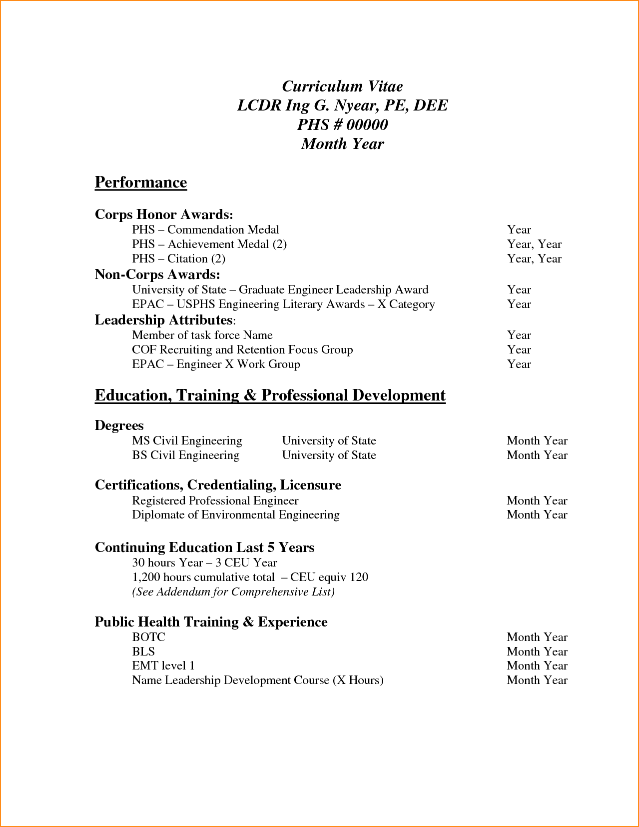 sample curriculum vitae for job application pdf basic
