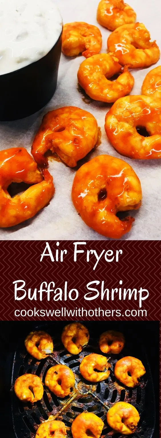 Air Fryer Buffalo Shrimp - Cooks Well With Others