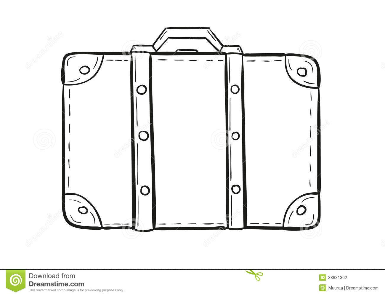 Vintage Suitcase Sketch Old Suitcase Cartoon Stock Photos Images