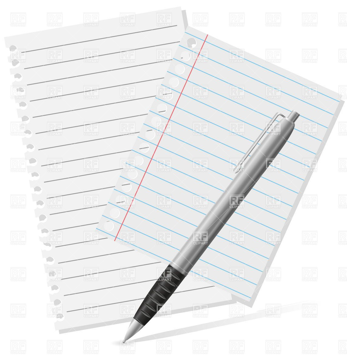 Pen And Paper Clipart - Clipart Kid | Pen, paper, Paper ...