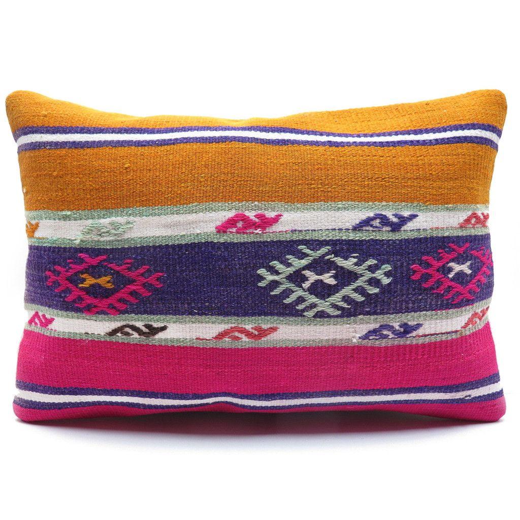 One-of-a-Kind Kilim Lumbar Pillow