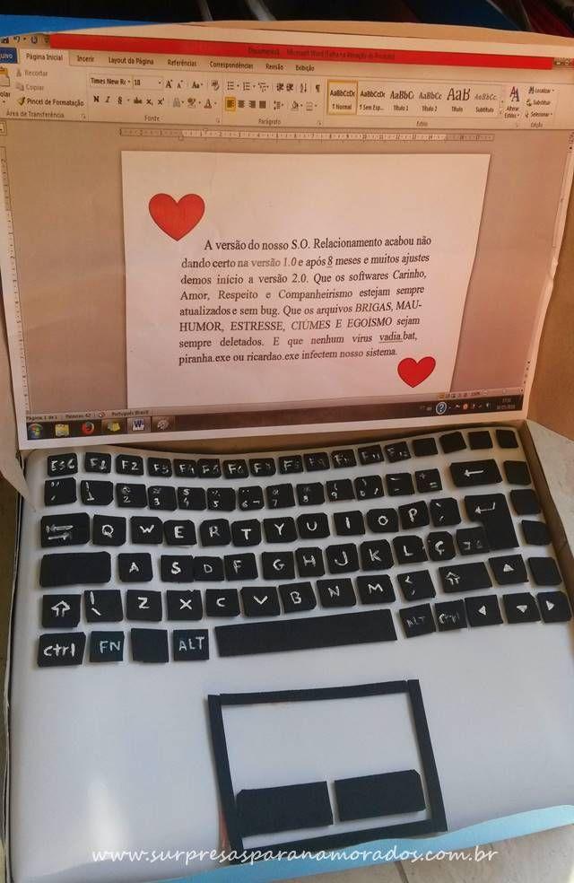 Presente Nerd Notebook Fake Para O Namorado Presentes