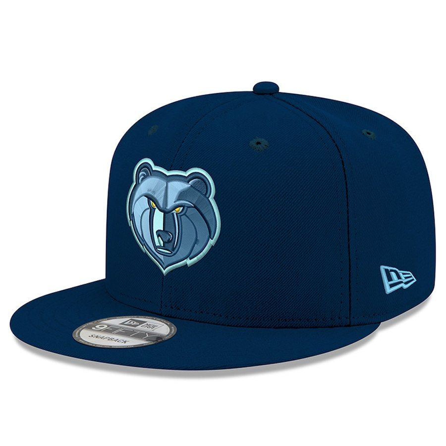 sports shoes 40726 84333 Men s Memphis Grizzlies New Era Navy Official Team Color 9FIFTY Snapback  Adjustable Hat, Your Price   27.99