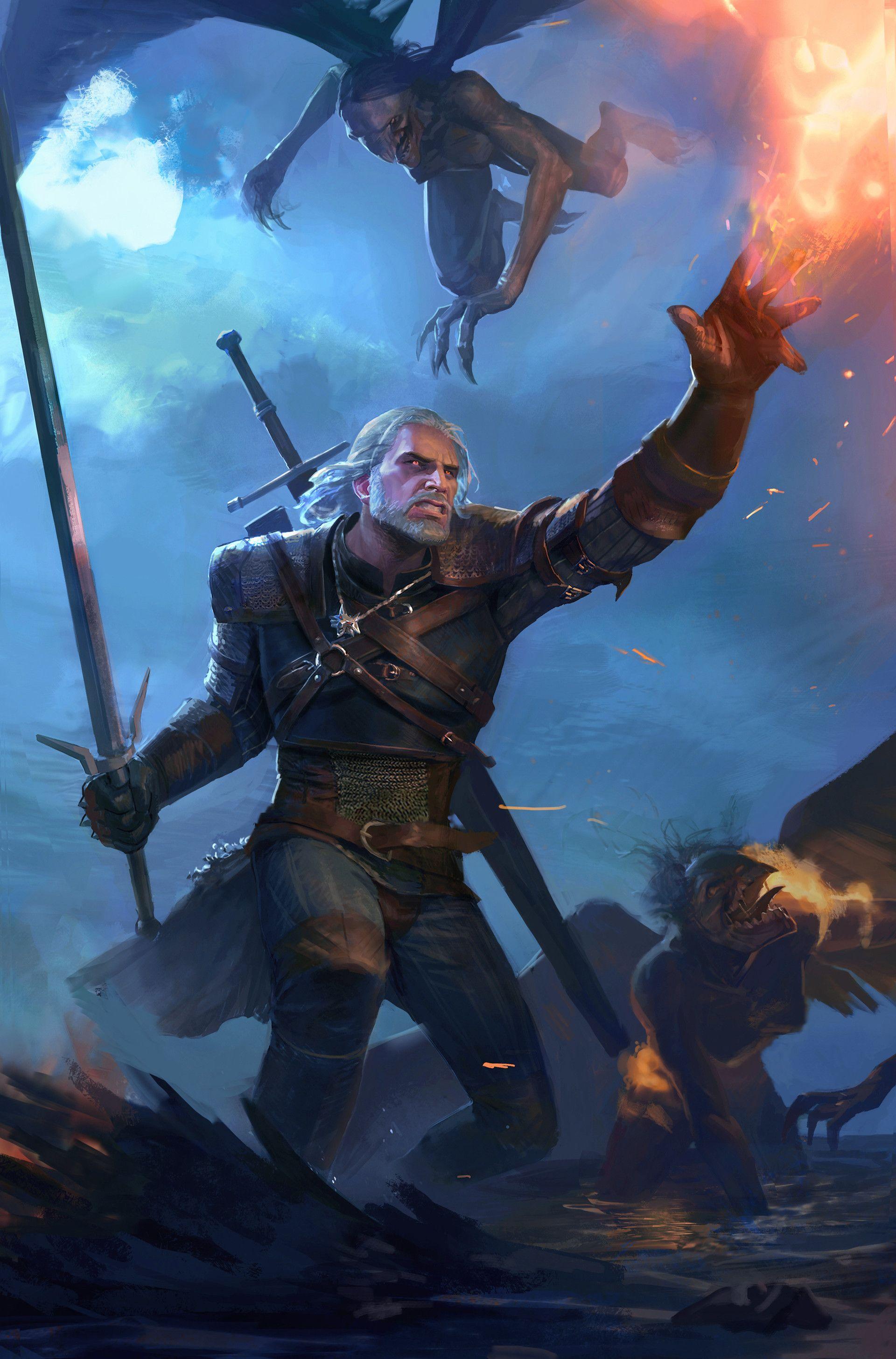Artstation Witcher Fanart Maxim Marenkov Igrovye Arty Belye