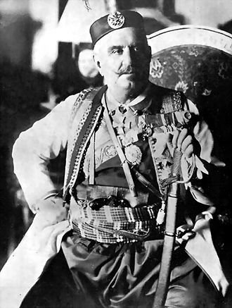 NICHOLAS I, King of Montenegro (28 August 1910 – 26 November 1918). Succeeded as Ruling Prince of Montenegro (13 August 1860) when his childless uncle Danilo I was assassinated. On 28 August 1910, during the celebration of his jubilee, he assumed the title of king. In January 1916, during WWI, Montenegro was conquered by Austria and the king went into exile. At the end of the war, he was deposed and Montenegro was annexed into Serbia, and then into what eventually became Yugoslavia.