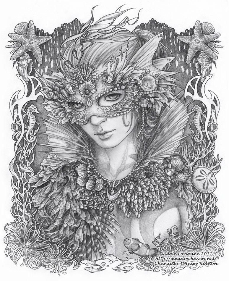 Masquerade Drawing WhimSea By Saimaindeviantart