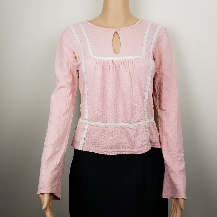 3b8e293e620 American Eagle Top Women's Shirt Long Sleeve Pink Size S # AmericanEagleOutfitters #CropTop #EverydayCasual