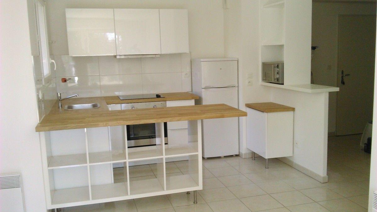 Séparation de cuisine avec KALLAX  Meuble de cuisine ikea, Meuble