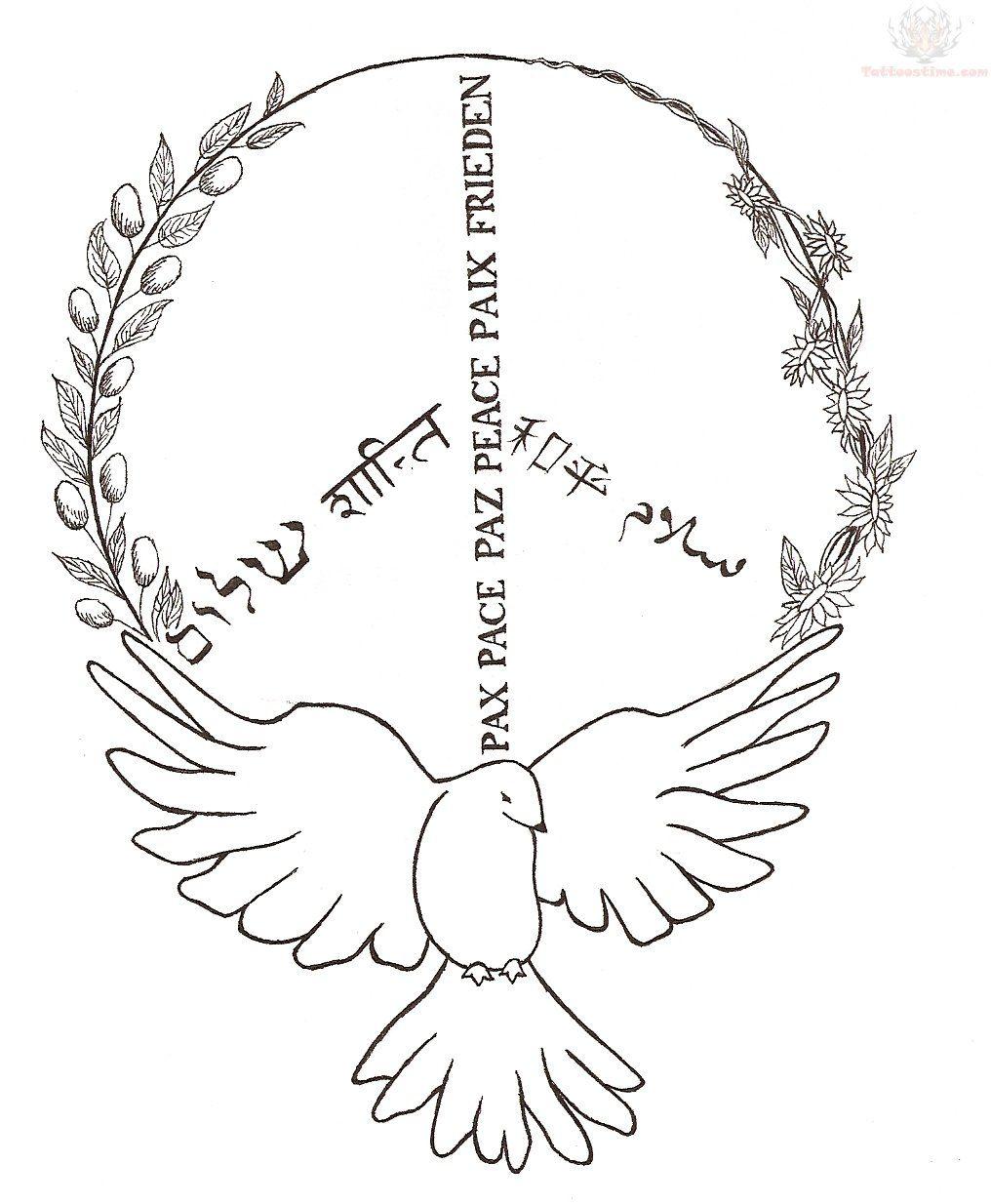 Peace Sign Tattoo With Regard To Tattoo Art Tattoo A To: Dove And Peace Sign Tattoo Design