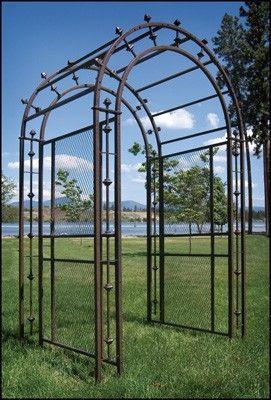 Arched iron garden pergola/arbor