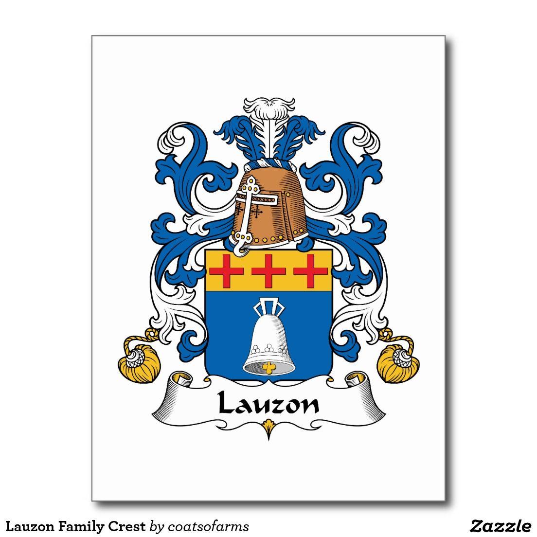 Lauzon Family Crest Postcard