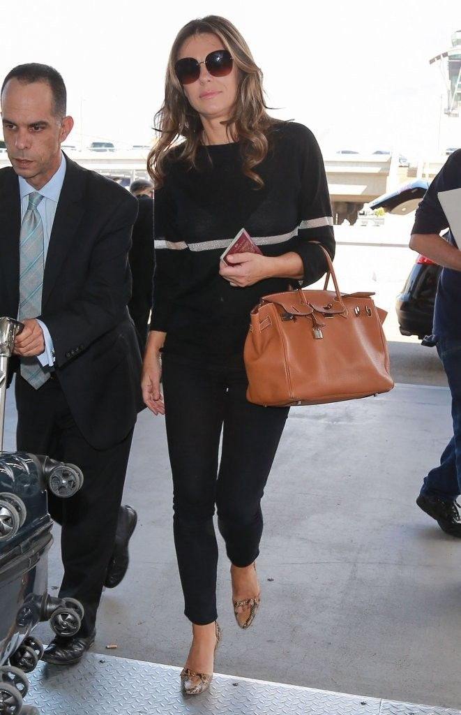 2c0dd549b70 Elizabeth Hurley Departs on a Flight at LAX