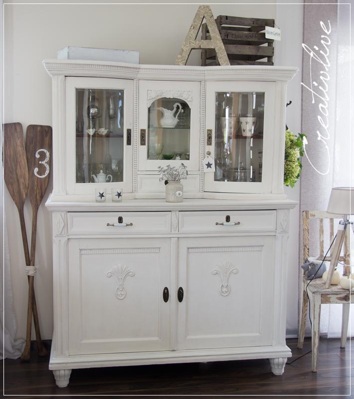 Möbel aufpeppen vorher nachher  Schrank mit Kreidefarbe gestrichen (CreativLIVE)   Kreidefarbe ...
