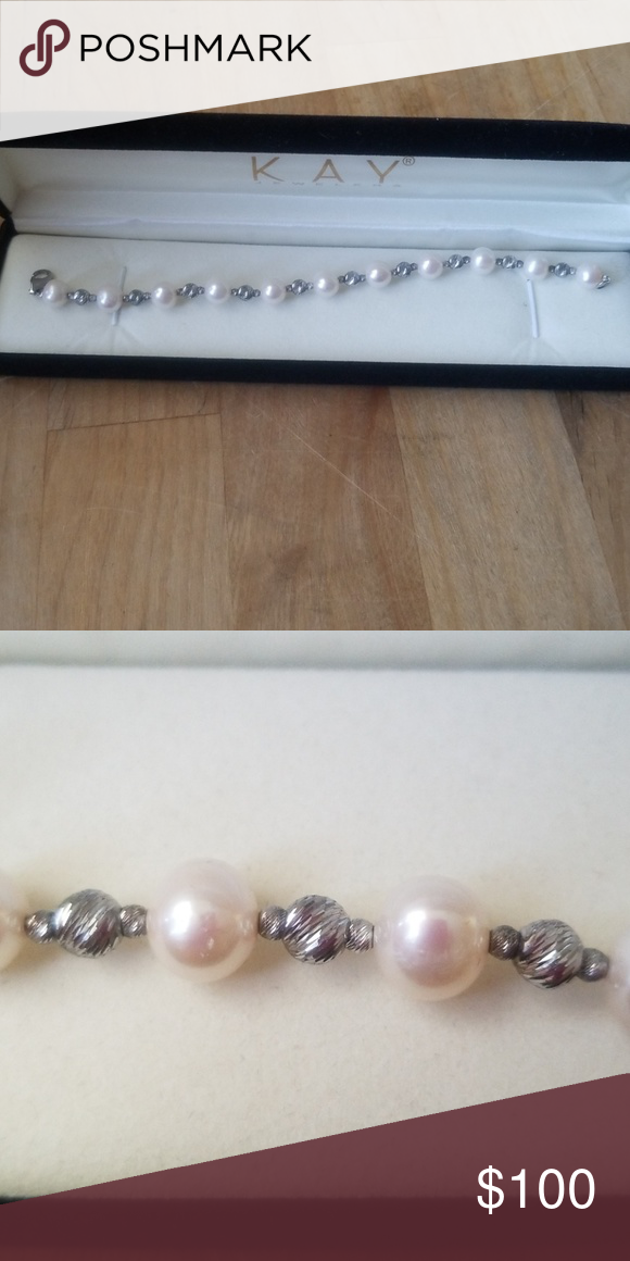 ea8fa98de Kay Jewelers Real Pearl Bracelet Pearl bracelet worn once, about 7