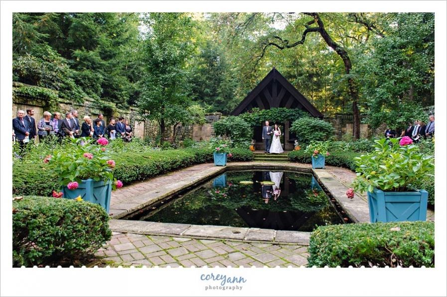 outdoor wedding ceremony sites in akron ohio%0A Allison and Ross u    s wedding at Stan Hywet Hall and Gardens