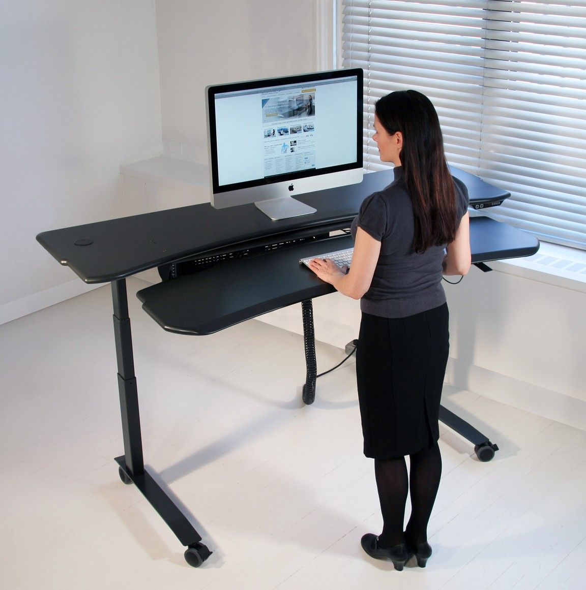 Http Www Biomorphdesk Com Products Ergonomic Adjustable Desks Flexo Desk Series Flexo Level3 Standing Desk Attachment Standing Desk Motorized Standing Desk