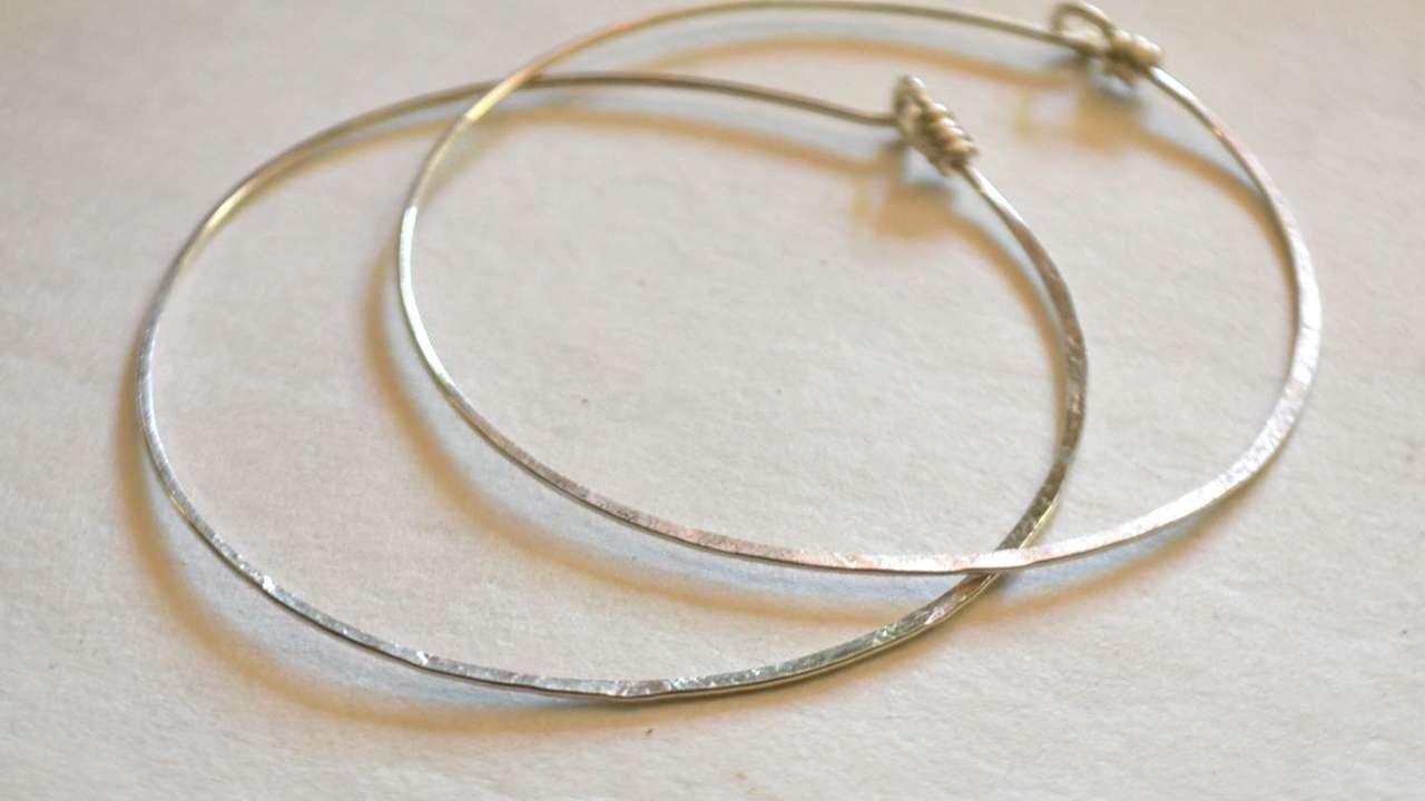 How To Make Simple Hammered Sterling Hoop Earrings - DIY Style ...