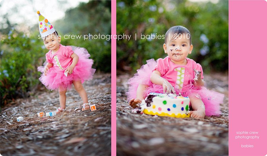 San diego first birthday cake smash photographer
