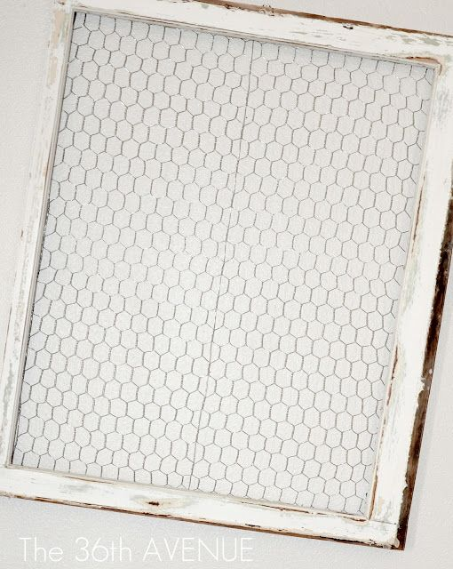 Chicken Wire Window Frame & Party TIME
