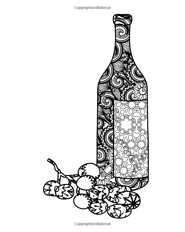 Wine Coloring Book For Adults Coloring Book For Grown Ups Including 40 Paisley And Henna Wine Inspired Col Coloring Books Wine Inspired Pattern Coloring Pages