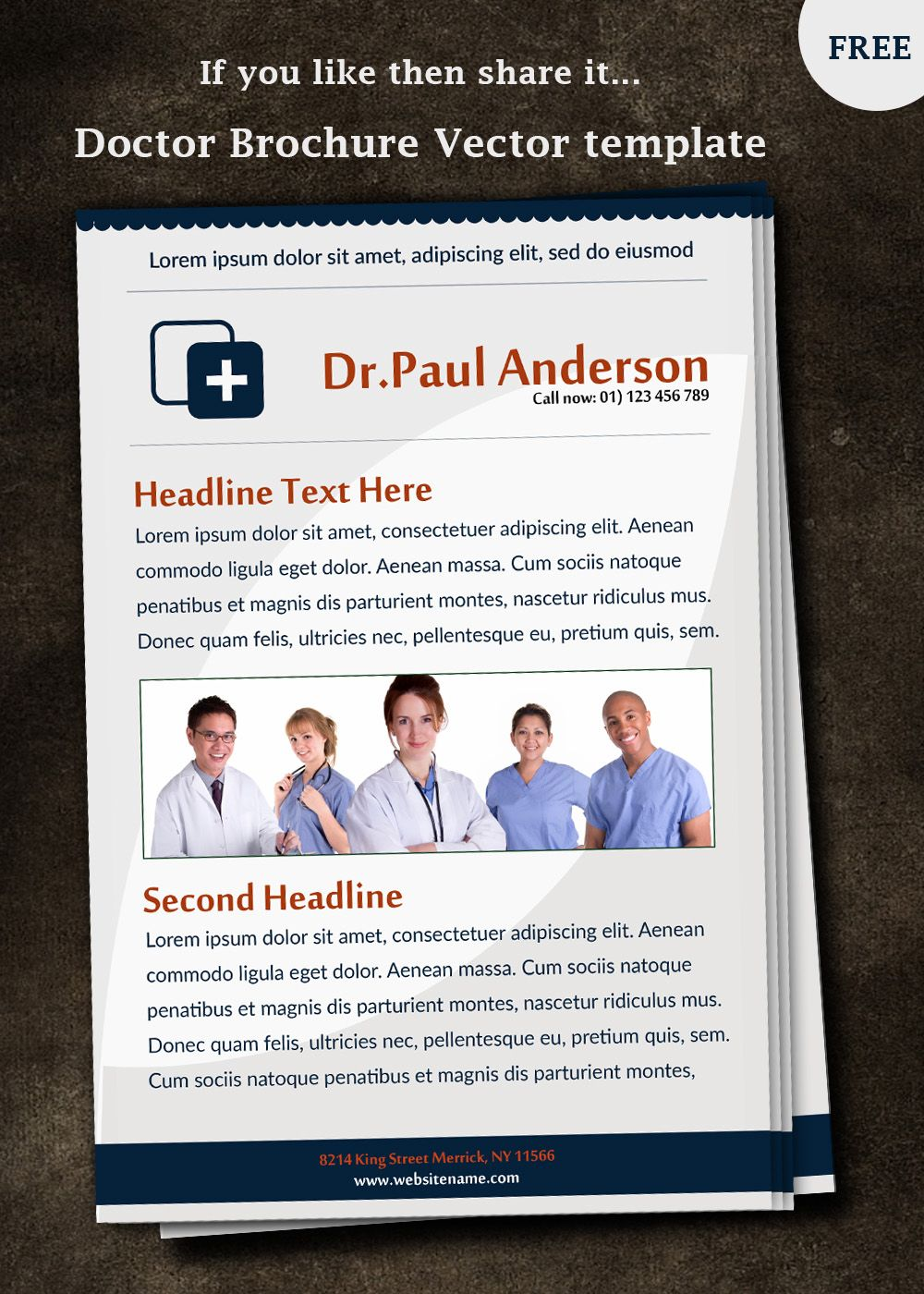 free doctor brochure template | brochure Design | Pinterest | Psd ...