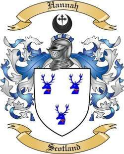 Coat of arms scottish. Hannah family from scotland