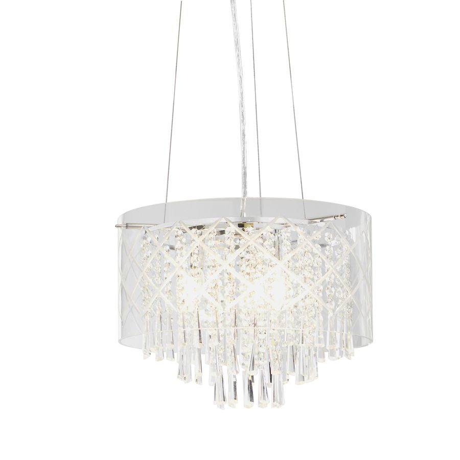 Style Selections 15 75 In W Clear Pendant Light With Shade At Lowes