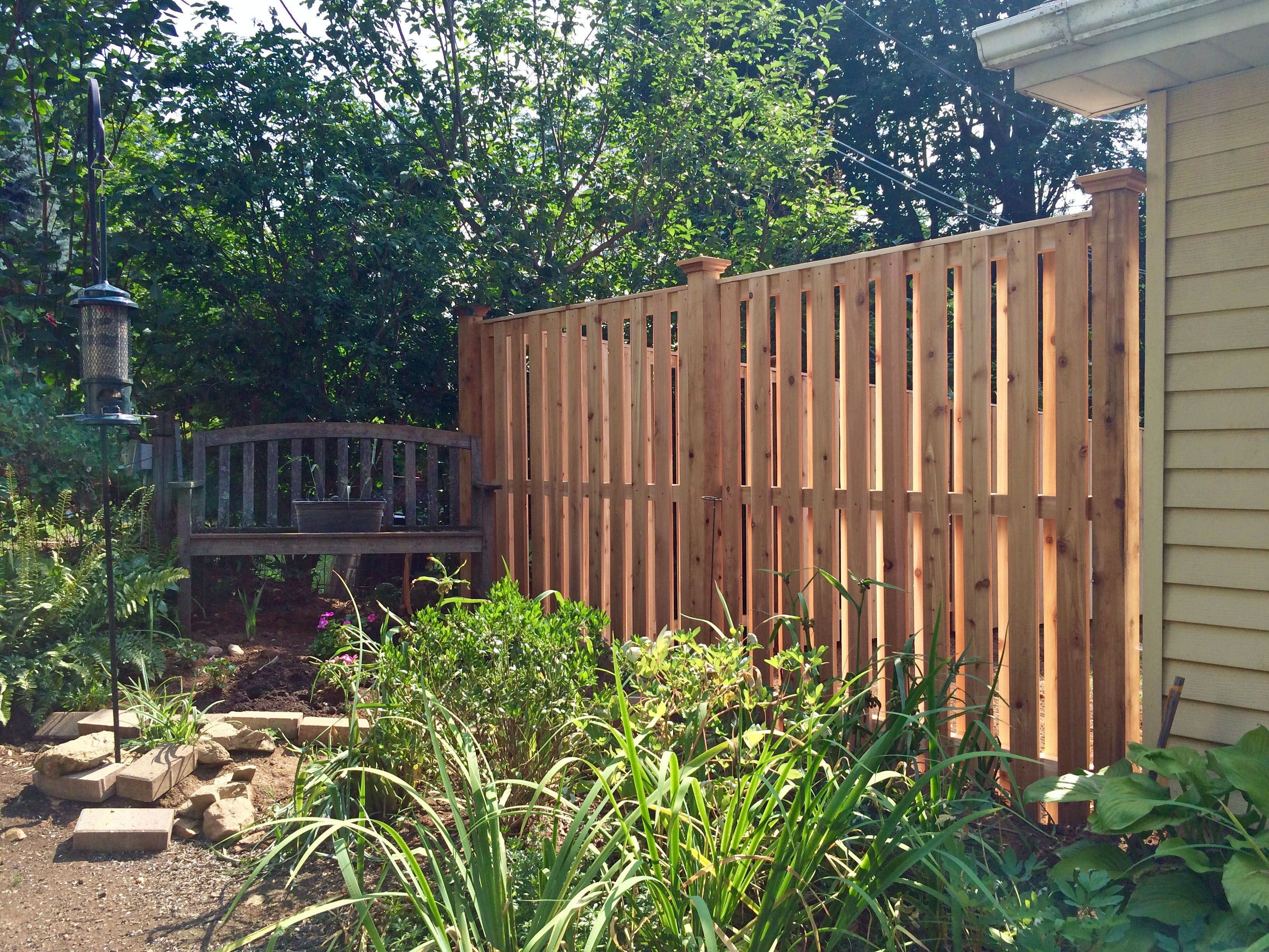 Semi Privacy Shadowbox Fencing Fence Styles Wood Fence Outdoor Structures