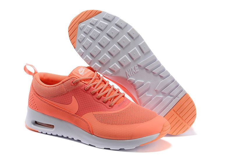 Nike Air Max Thea Salmon Pink White Womens Sneakers #Pink