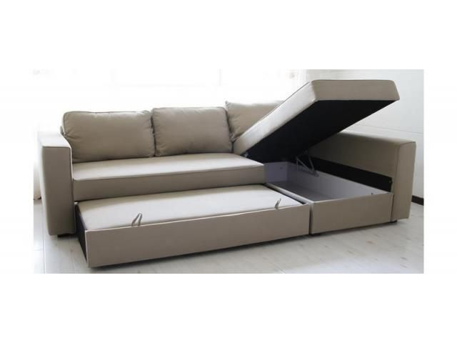 3 Seater Corner Sofa Bed with chaise longue and storage