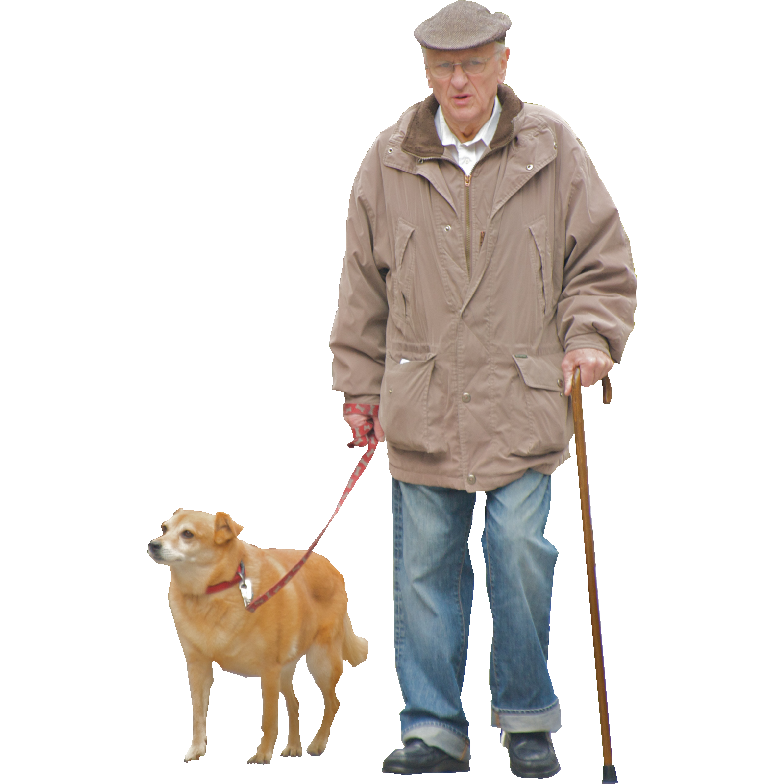 Im A Grumpy Old Man But My Dog Still Loves Me By Ed Yourdon Png 1600 1600 Render People Old Man Walking People Cutout