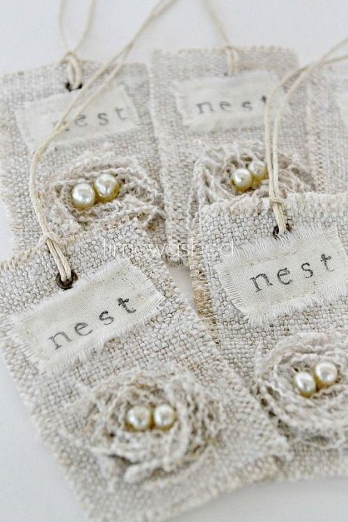 Handmade nest gift tags gift wrap pinterest nest easter and gift handmade nest gift tags negle Image collections