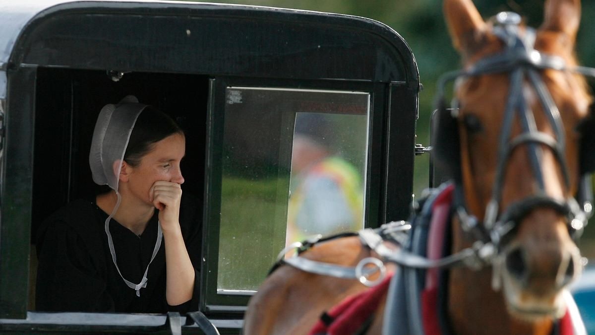 Wahlkampf bei den Amischen: Drei Damen gegen Donald Trump