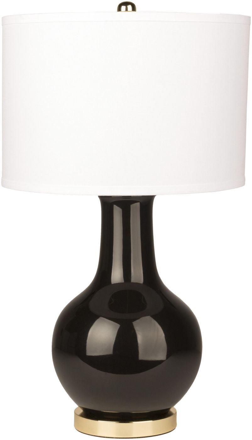 Sally Contemporary Table Lamp Glazed White is part of Contemporary Home Accessories Black White -    Dimensions(In) 15 x 15 x 26 5 Type of bulb 150W Number of bulbs 1 Bulb(s) included N Cord Length(In) 72 Cord Color Translucent Switch Type 3Way