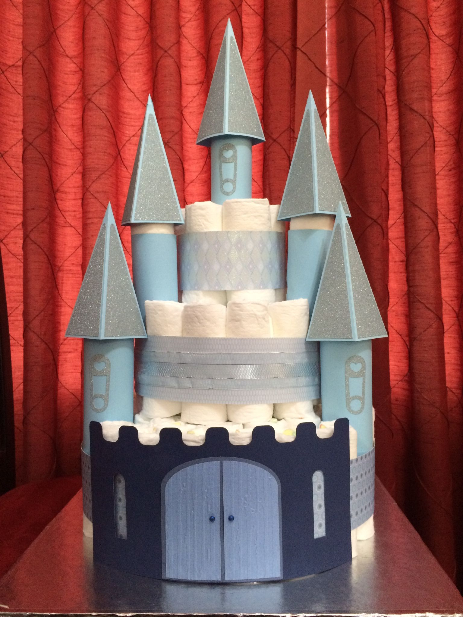 Svgcuts Nappy Cake Castle For Caleb Nappy Cakes Baby Shower Nappy Cake