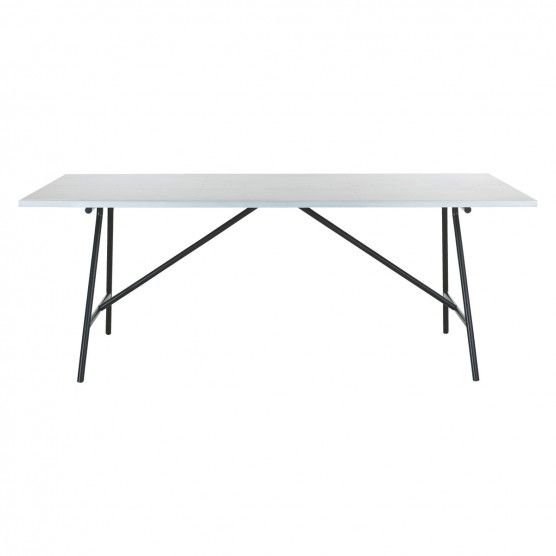 Yeoman 8 Seater Zinc Topped Dining Table Tables