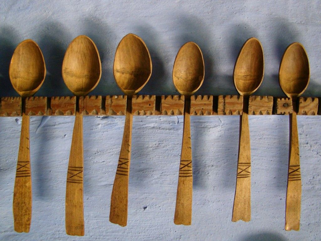Beautiful Romanian wooden carved spoons. A little simpler than he others I have posted.