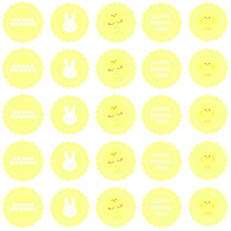 easter labels - yellow