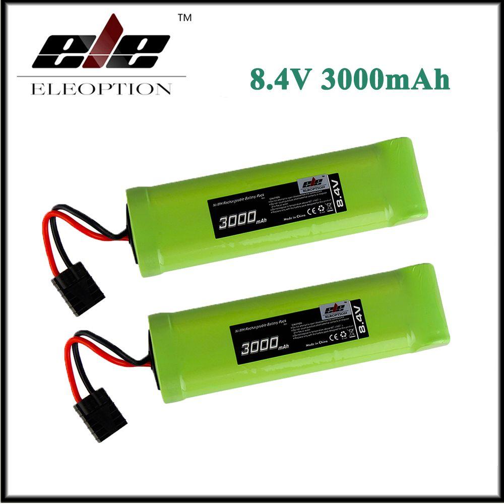2x Eleoption 8 4v 3000mah 7 Cell Ni Mh Battery Flat Pack For Traxxas 1 10 E Maxx Affiliate Flat Pack Traxxas 10 Things