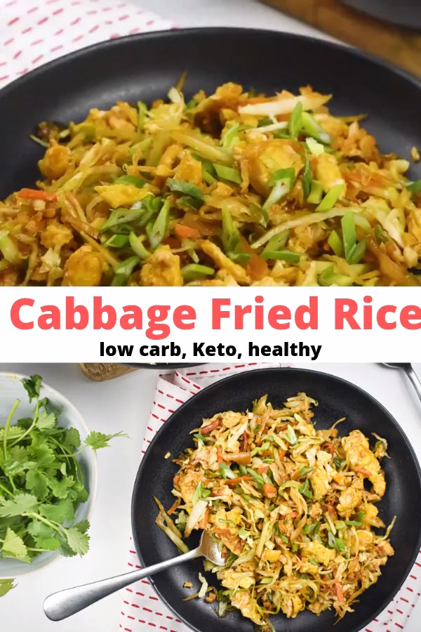 Cabbage Fried Rice - Slender Kitchen Keto and Low