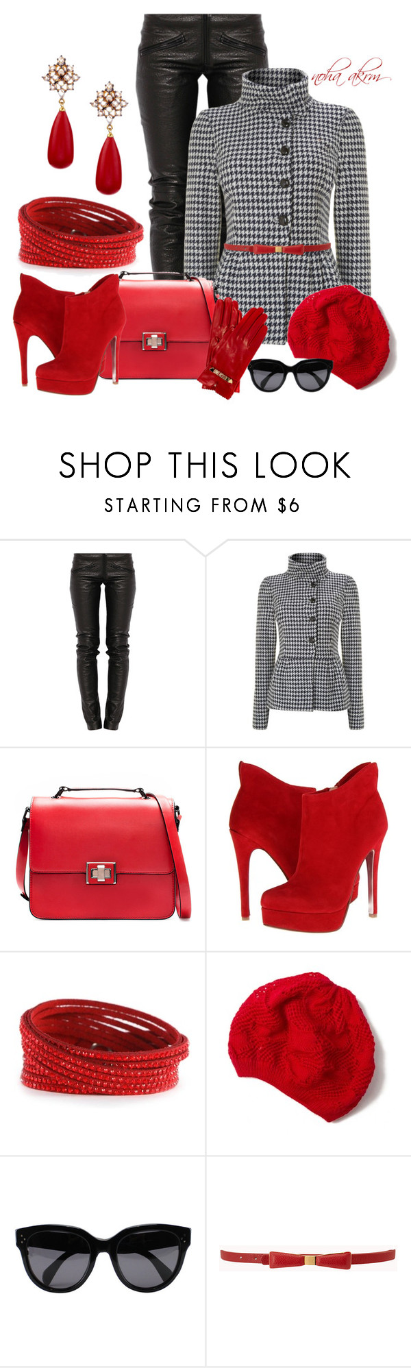 """""""Untitled #681"""" by noha-akram ❤ liked on Polyvore featuring Preen, Marella, Zara, Chinese Laundry, Nordstrom Rack, Swarovski, CÉLINE, Forever 21 and Moschino Cheap & Chic"""