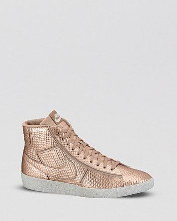 online retailer 7ce37 4a31f Nike Lace Up High Top Sneakers - Womens Blazer Mid Cutout  Bloomingdales