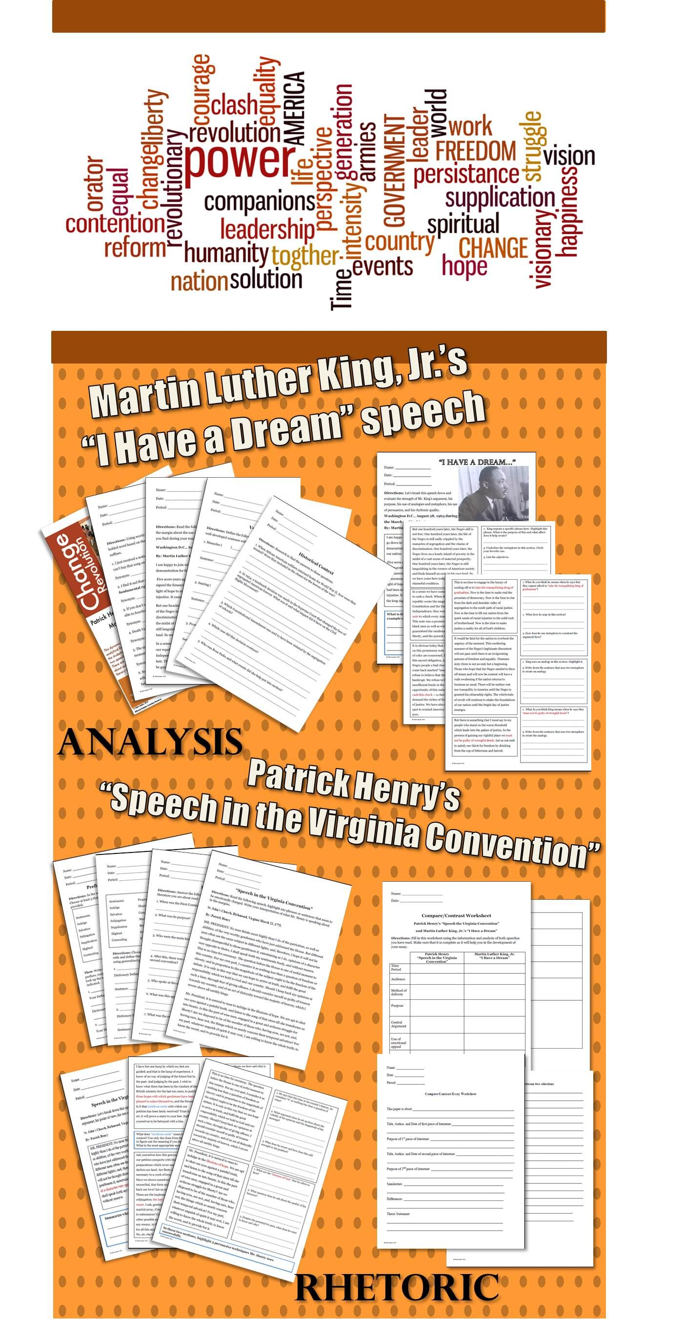 75 Page Unit On Martin Luther King Jr S I Have A Dream