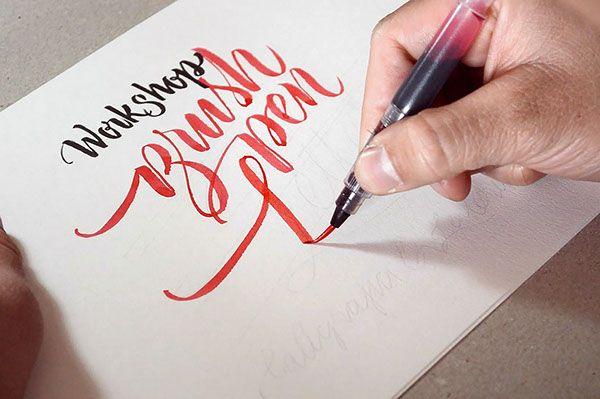 Workshop Brush pen Letters by Jackson Alves, via Behance